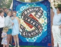 memory quilts- I absolutely love this idea with the old film and the photos.