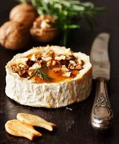 Walnut & honey baked brie