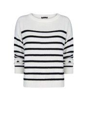 Mango Women's Striped Cotton Sweater Price: $19.99
