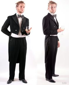 Vintage 50s Tailcoat Suit / Black Dress Suit for by BetaPorHomme, $170.00