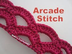 ‪How To Crochet- Arcade Stitch Tutorial‬‏ - YouTube