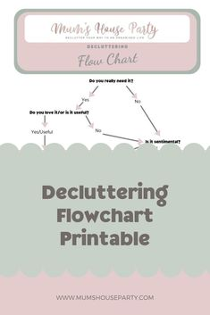 Declutter just about anything using my decluttering flowchart, so simple and uncomplicated, enough to start anyone on their decluttering journey Flowchart, Working Mums, Mummy Bloggers, Do You Really, Decluttering, House Party, Self Esteem, Self Improvement, Self Help