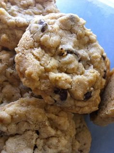 Chewy Oatmeal Chocolate Chip Cookies..made these today - OMG, soooo good (and so easy) I used a mixture of choc chips and dark choc pieces