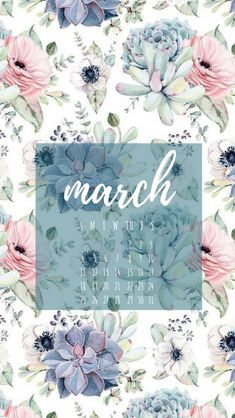 March! Calendar #Iphone #Wallpaper,