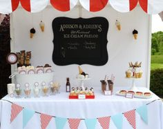 An awning would be cute over the food table