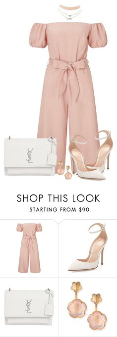 """Culotte Jumpsuit Outfit"" by mozeemo ❤ liked on Polyvore featuring Miss Selfridge, Gianvito Rossi, Yves Saint Laurent, Pasquale Bruni and Charlotte Russe"