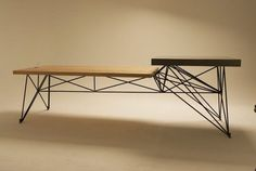 Gore Design modern table wood concrete steel