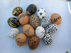 eggs... now that's decorating an egg!