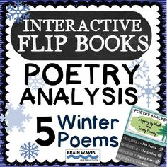 This winter, help your students cozy up to five winter poems in this engaging 5-day Poetry Analysis Unit. Take all of the intimidation out of teaching and analyzing poetry with the Interactive Flip Books designed for each poem. Each flip book includes four analysis tasks to help students dive deeper into the interpretation of the poems.
