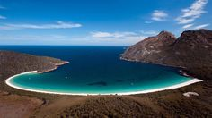 Wineglass Bay in Tasmania, Australia