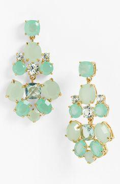 KATE SPADE Chandelier Earrings Giverny Blue Multi/Gold $85