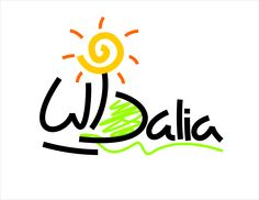 """Logo design for an advertisment office with the name of """"Dalia"""" Dalia is the flower of sun, bc of that I put the symbole of flower and sun together. and I used """"D"""" for the first alphabet of """"Dalia"""" in both languages, persian and english."""