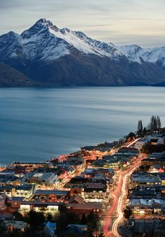 Queenstown Central, Otago, New Zealand. Photo by Paul Simpson : Queenstown Central, Otago, New Zealand. Photo by Paul Simpson Places Around The World, Oh The Places You'll Go, Travel Around The World, Places To Travel, Travel Destinations, Dream Vacations, Vacation Spots, Vacation Trips, Queenstown New Zealand