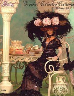 1912 Edwardian Tea Gown for Barbie Paradise Vol 98 Paradise Crochet PATTERN NEW