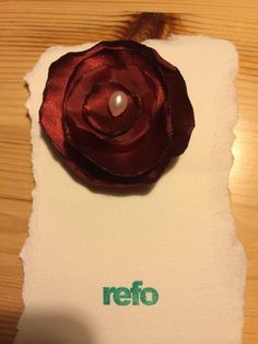 Rosebrosch remake from an old shirt. Made by our partner @Kerstin Kallin at @kronbruden .  #remake #eco #diy