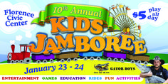 10th Annual Kids Jamboree January 23 & 2, 2015 at the Florence Civic Center in Florence, SC
