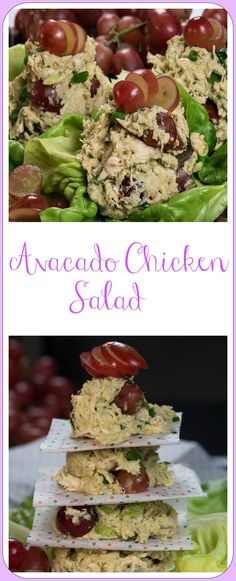 AVOCADO CHICKEN SALAD!! Avocado Chicken Salad is so simple to make it's almost silly not to try. Its creamy texture and pop of fruit are such a fit-yummy flavor you will savor every bite.