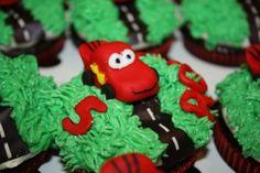 Lightening McQueen cupcakes - Bing Images