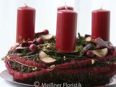 """Kränze - Adventskranz """"klassisch moderner Advent 2&... - ein Designerstück von Meissner-Floristik bei DaWanda"""