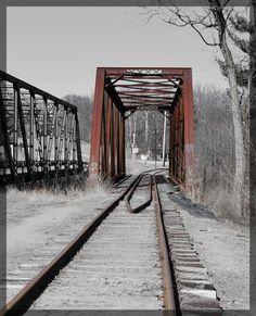 Another view of the old railroad bridge & tracks near Thornton, NH  #bridge #tracks