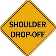 Temporary 076 shoulder drop-off $1.64 #signs #traffic #road #USA