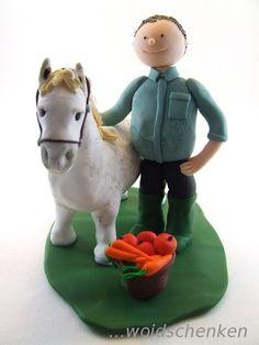 Tortenfigur Mann mit Pony