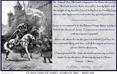 NOVENA PRAYER TO ST JOAN OF ARC
