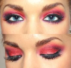 Amazing red eye make up xo