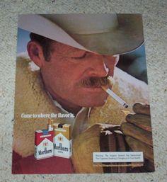 1982 ad page -Marlboro cigarettes- sexy cowboy man vintage advertising ADVERT #Marlboro