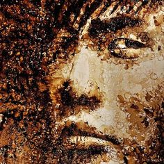 coffee ring stain portrait...hong yi