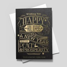 Shimmering new year available as a single folded card or boxed set gatsby greeting company name from cardsdirect colourmoves