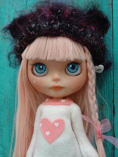 OOAK Blythe - custom doll - Rain - by Marina nr 52 pink hair