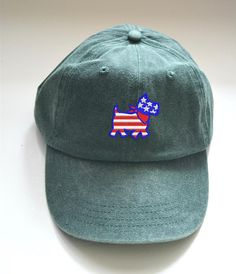 92465cd0b06 USA Flag Patriotic women s Baseball Cap July 4th Gift Best Friend  Embroidered Yorkie dog 4th of July Hat American Flag
