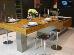 Allmillmo German Luxury Exdisplay Kitchen in Olive Tree Veneer -