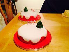 Snowmen Christmas cakes