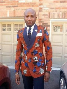 African print doubled breasted blazer African men killing it African Print Fashion, Africa Fashion, African Prints, Suit Fashion, Mens Fashion, Fashion Dresses, Wedding Suit Styles, Ankara Jackets, African Attire