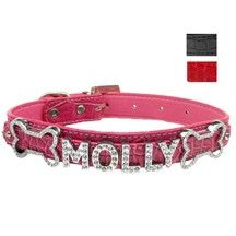 Make your pup stand out with this 18mm Faux Croc Collar. This faux leather collar features a 2-tier level in which to slide on some of our fun 18mm rhinestone letters to create their name or just add some shine.
