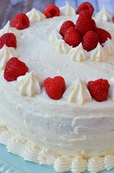 gluten free lemon raspberry cake