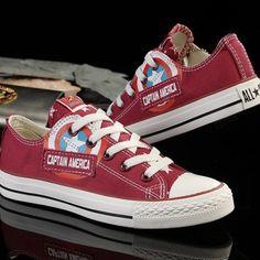 Captain America Converse Shoes Marvel | IdolStore