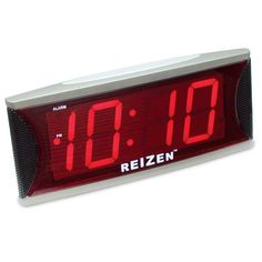 Reizen Jumbo Super Loud Alarm Clock with 2-Inch Red LED - Low Vision Clocks - MaxiAids