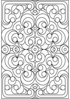Geometric Design Coloring Pages and Stained Glass Colouring Pictures to Print - Deco Flowers