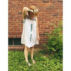 Mexican Embroidered Dress Anthropologie #Swapdom