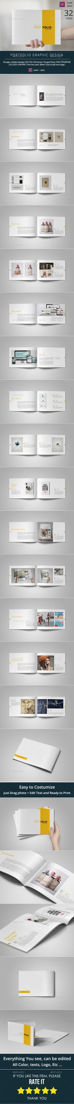 A5 Portfolio Template — InDesign INDD #indesign template #portfolio • Available here → https://graphicriver.net/item/a5-portfolio-template/10509226?ref=pxcr