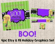 Halloween Etsy Banner Shop Set  Facebook Timeline Set by ShopKandy