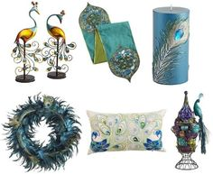 Peacock Accessories For Home Decor