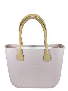 df9b488bda Pink Smoke O Bag with White Canvas Insert and Natural Long Eco Leather  Handle Pink Smoke