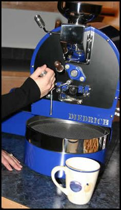 Home Coffee Roaster HR-1 Dietrich. chrome and painted metal details