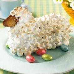 Ostern gehört Lamm auf den Tisch! Unser Zitronenlamm mit knusprigem Baiser-Fell schmeckt auch Vegetariern. Foto: Thomas Neckermann