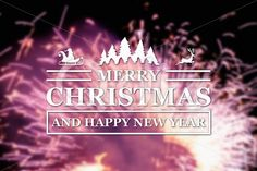 Qdiz Stock Photos Merry Christmas and New Year greeting card,  #background #blur #blurred #card #celebration #Christmas #eve #firework #greeting #happy #holiday #Merry #new #postcard #retro #season #traditional #vintage #xmas #year