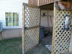 lattice door under deck